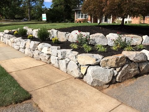 Nature's Call - Granite Boulder Retaining Wall
