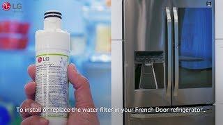 LG French Door Refrigerator - Installing the Upper Interior Water Filter