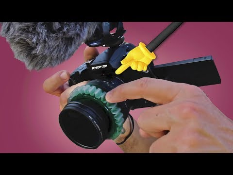 Lumix Lens HACK! CHEAP Follow Focus Grip - Knoptop