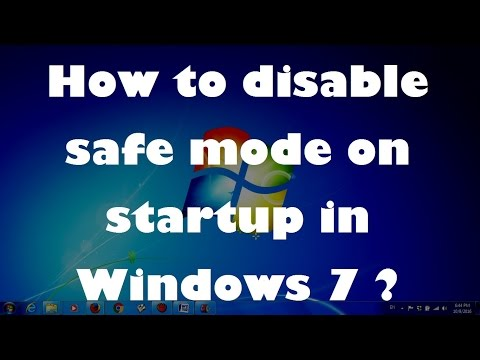 How to disable safe mode on startup in Windows 7 - Simple fix