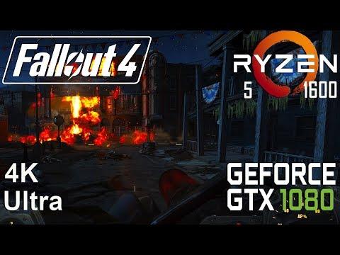 Fallout 4 4K Test On Gigabyte GTX 1080 + Ryzen 5 1600, Ultra Settings