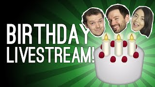Birthday Livestream! Outside Xbox Is 6! 🎂 Hitman, Overcooked 2, Minecraft Pictionary, Cake 🎂