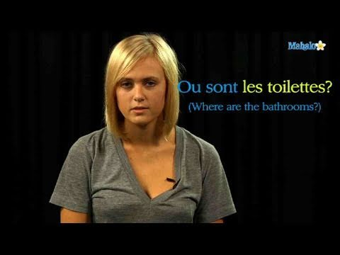 How to Ask For The Bathroom in French