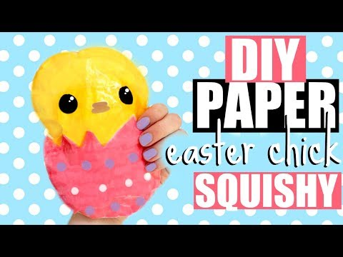 EASTER PAPER SQUISHY   how to make a squishy without foam #19