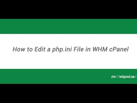 How to Edit hosting  php.ini File in WHM - mvc host php ini
