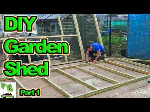 How To Build A Garden Shed.  Or Is It A Tiny House? Complete Step By Step Guide. (Part 1)