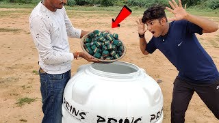 Green VIP vs Water Tank Experiment || Water Tank Survive Or Not || Experiment King