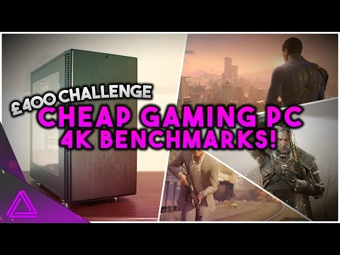 £400 / $500 Budget 4K PC ~ 4K Gaming Benchmarks! ~ Cheap Scorpio Killer PC Build Challenge Part 2