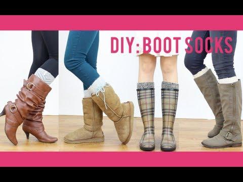 DIY Tutorial: Boot Socks | Miss Louie