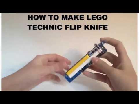 How to make lego technic flip knife*lego flip knife