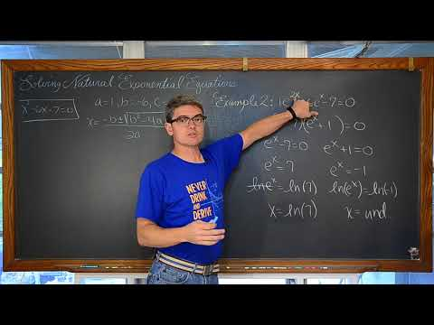 Solving Natural Exponential Functions 3 Examples with Natural Logarithms