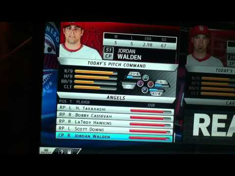 MLB 12 The Show Angels Roster and Lineups