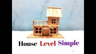 Membuat Miniatur Rumah Tingkat Sederhana Dari Stik Es Krim