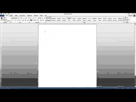 Word 2013 - Introduction to the User Interface