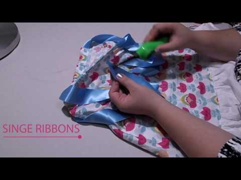 How to sew The Emily Dress 5/5 - Ribbons, a pillowcase dress sew along and tutorial