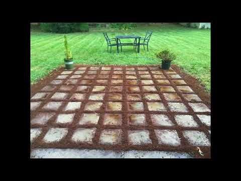 Easy Grass Grout Paver Patio With  Scotts EZ Seed®
