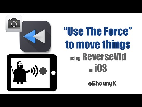 iPad Video Effects - Reverse Video to make it look like you have the Force like Darth Vader