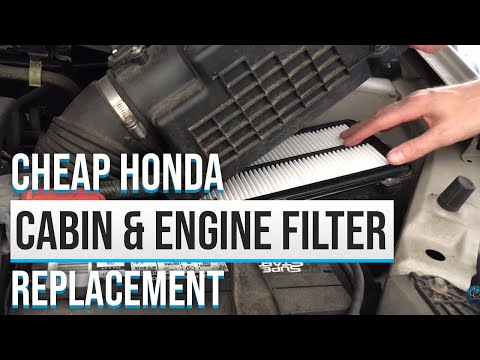 2007 Odyssey Cabin Air Filter and Engine Air Filter Replacement in 7 minutes and $16 total