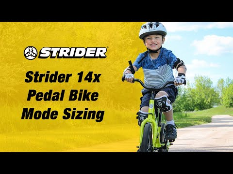 14x Pedal Bike Mode Sizing