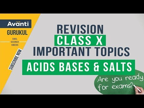 Acids Bases and Salts | Acids Bases Common Reactions  | CBSE Class 10 Revision| Important Questions