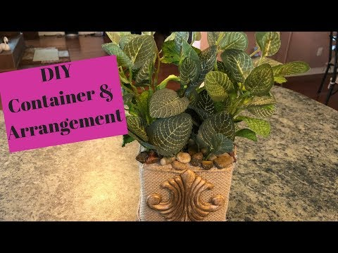 Dollar Tree | Walmart Container And Greenery DIY