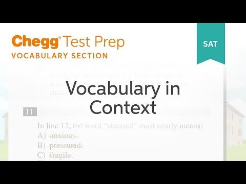 SAT prep - SAT Vocabulary In Context - Chegg Test Prep