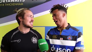England rugby stars Jack Nowell and Anthony Watson tell us all about their teammates
