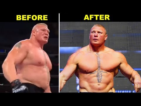 WWE Brock Lesnar Shocking Transformation: 10 Times He Changed His Look
