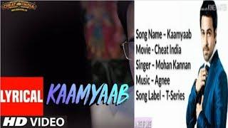 Kaamyaab SONG- Whatsapp Status | Emraan Hashmi Shreya D - Mohan - Kannan - Agnee