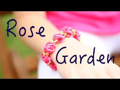 Rainbow Loom Rose Garden Tutorial How To easy facile français