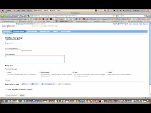 Creating Google Mailing Lists / Groups