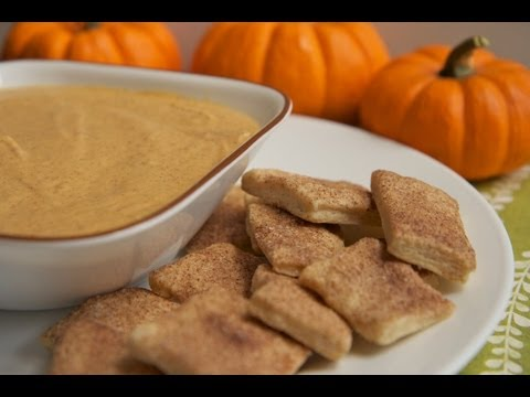 Pumpkin Pie Dip Recipe w/ Cinnamon Sugar Pie Crust Bites