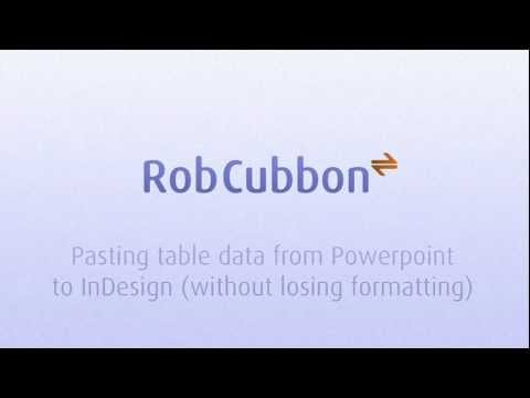 Pasting table data from Powerpoint to InDesign on a Mac (without losing formatting)