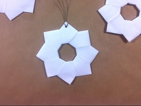 How to Make a Japanese Paper Star for Xmas Ornament (DIY Tutorial)