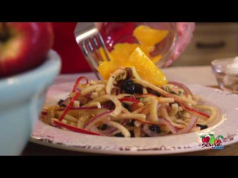 Spiralized Apple and Citrus Salad - Christmas Salad Recipe - The Produce Moms
