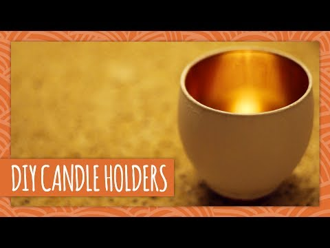 DIY Golden Candle Holders - HGTV Handmade