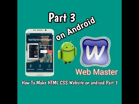 [How To make HTML CSS website on android part 3] Create a HTML Dropdown Menu