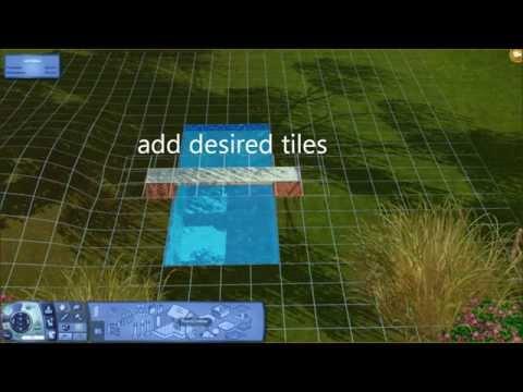 Sims 3 Tutorial - Bridge straight over water/curvy