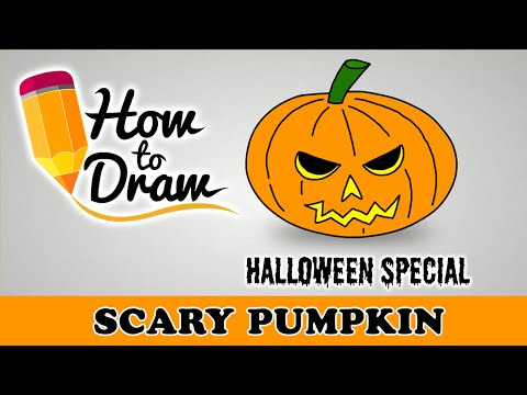 How To Draw A Scary Halloween Pumpkin Face Halloween Special Easy Dra