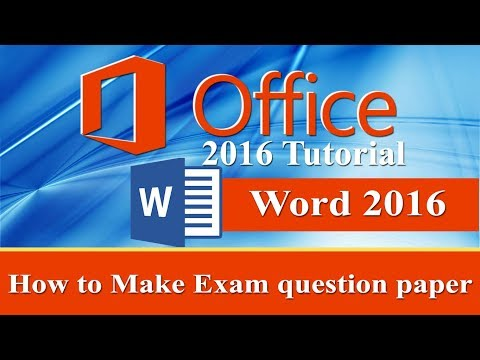 How to Make Exam question paper in Ms word 2016 in Urdu/Hindi