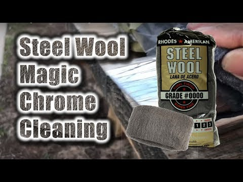 Steel Wool Magic Chrome Cleaning