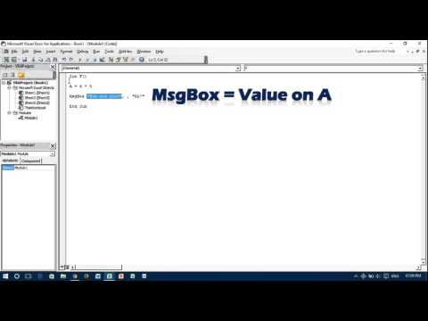 Excel VBA Message Box #How to Create MsgBox