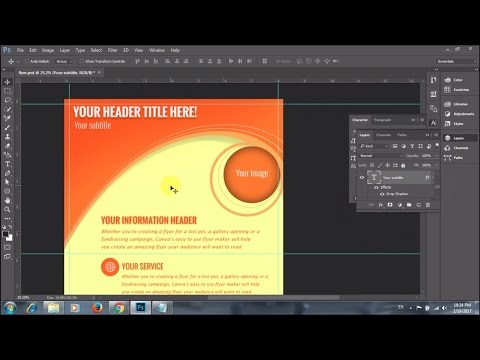 how to create a flyer in photoshop cc 2015