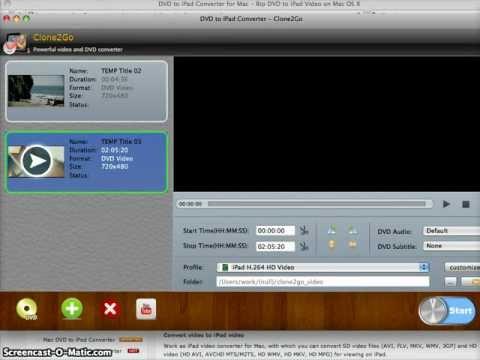 How to Rip DVD to iPad on Mac OS X