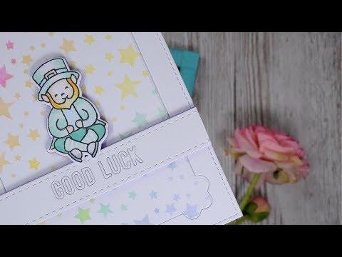 BLOG HOP : Good Luck Card - Heffy Doodle & My Sweet Petunia Collaboration