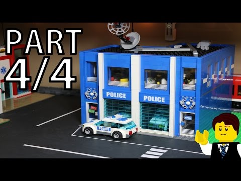 BUILDING a LEGO POLICE STATION - PART 4/4