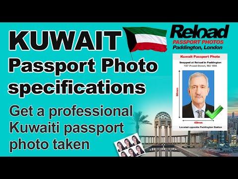 Kuwait Passport Photo and Visa Photo snapped in Paddington, London