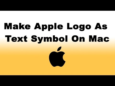 How To Make Apple Logo  as Text Symbol on Mac