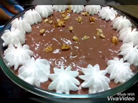 CHOCOLATE CUSTARD TRIFLE by kitchen counter