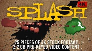 Splash - Stock footage video pack